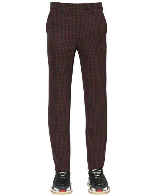 Balenciaga - Multicolor 19cm Tech Twill Check Trousers for Men - Lyst