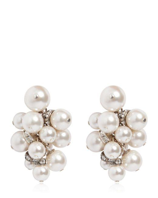 Lanvin - White Imitation Pearl Cluster Earrings - Lyst