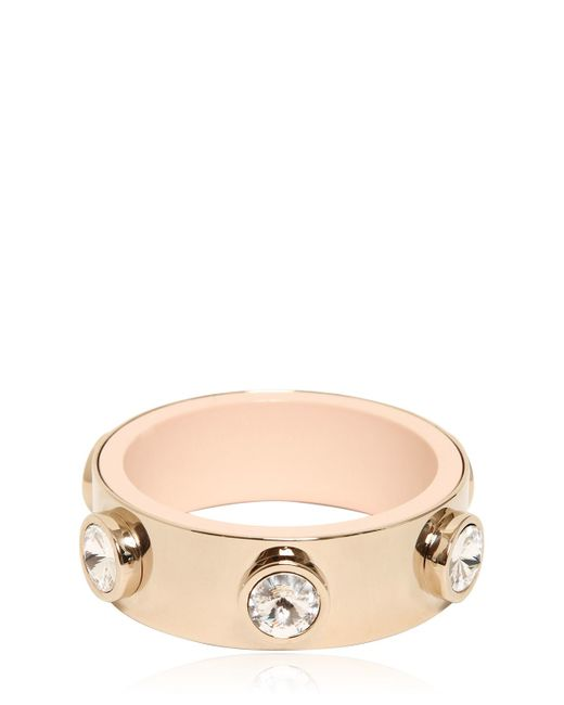 Givenchy | Metallic Brass Plated Bracelet With Rhinestones | Lyst