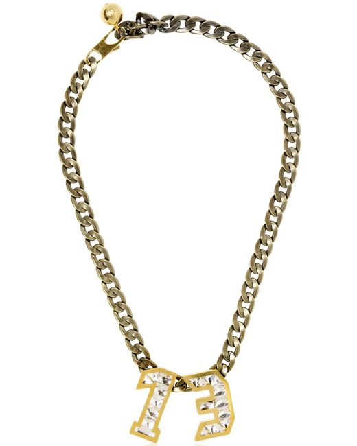 Lanvin | Metallic Swarovski Pendant Necklace | Lyst
