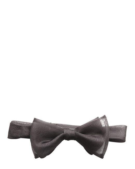 Title Of Work | Metallic Silk Organza Bow Tie for Men | Lyst