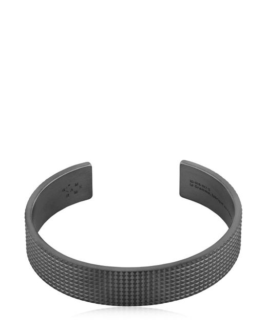 Le Gramme | Black Le 41 Matte Guilloche Pyramid Bracelet | Lyst