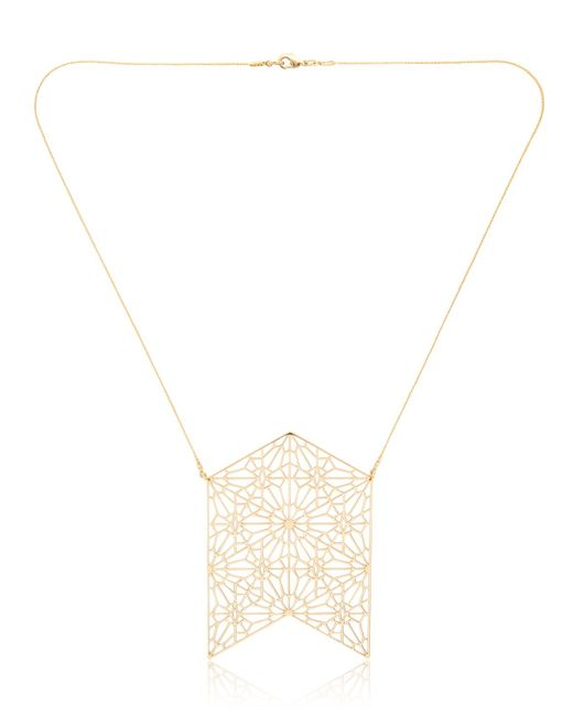 Lotocoho | Metallic Alhambra Arrow Shaped Necklace | Lyst