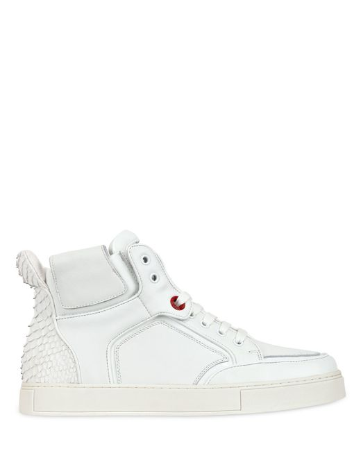 Royaums | White 2andmade Leather High Top Sneakers | Lyst