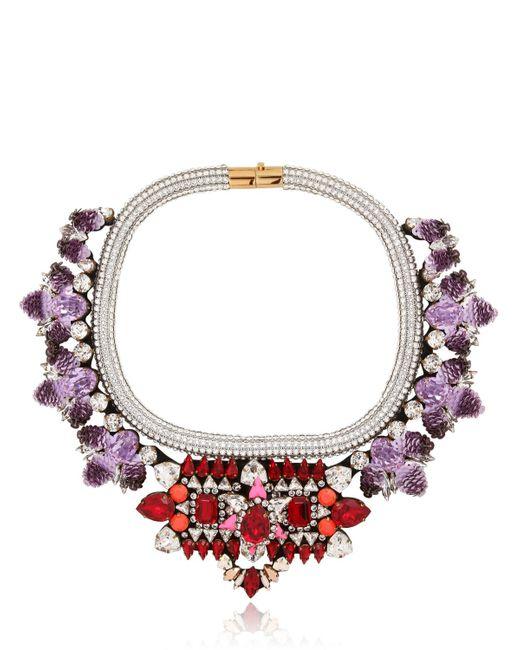 Shourouk | Purple Avalon Necklace | Lyst