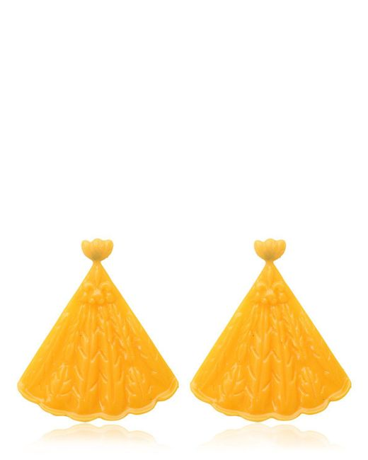Mariah Rovery | Yellow Brinco Leque Earrings | Lyst