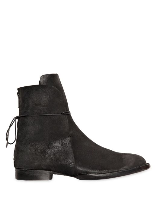 barny nakhle coated leather lace up boots in black lyst