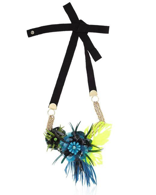 Matthew Williamson | Blue Palm Perspex Necklace | Lyst