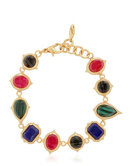 Isharya   Metallic Rani Rocks Bracelet   Lyst