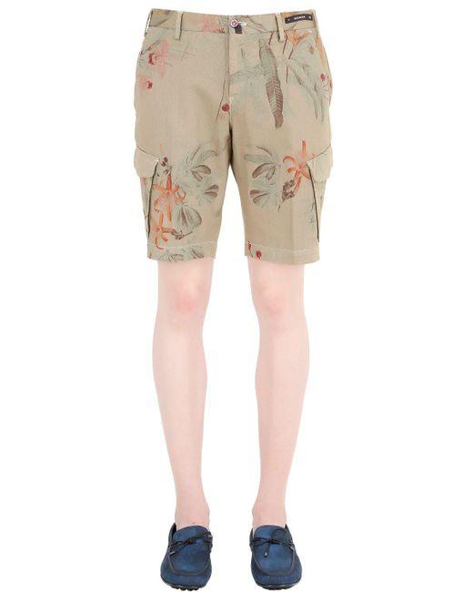 PT01 | Green High Tech Stretch Bull Cotton Shorts for Men | Lyst