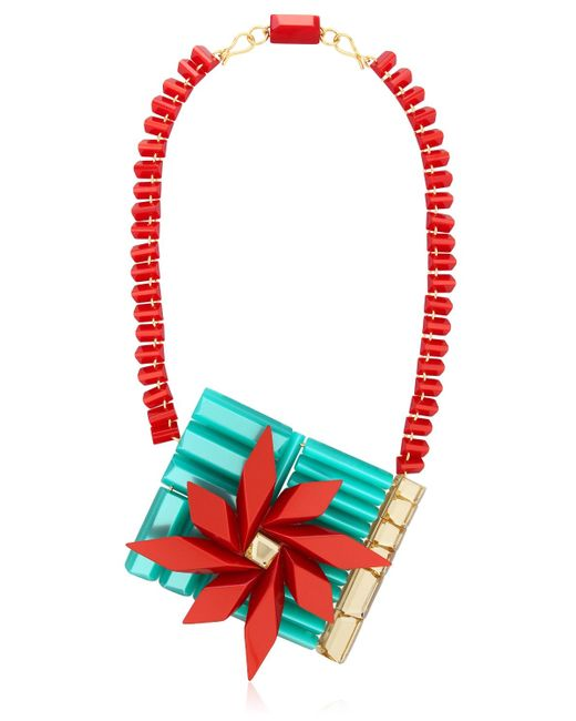 Silvia Rossi | Red 'polynesian Wave' Necklace | Lyst