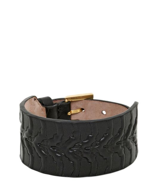 Alexander McQueen | Black Rib Cage Leather Bracelet for Men | Lyst