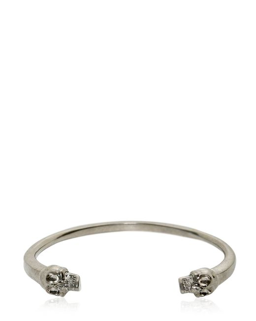 Alexander McQueen | Metallic Skulls Bracelet for Men | Lyst