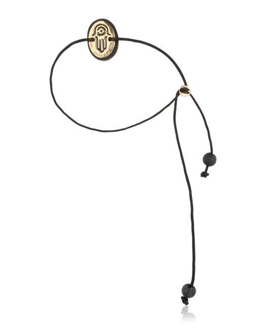 Anna E Alex | Black Lava & Gold Bracelet | Lyst