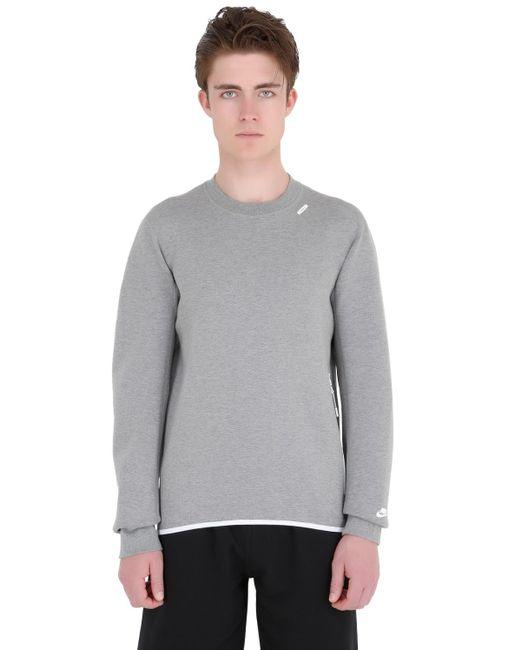 Nike | Gray White Label Cotton Blend Sweatshirt for Men | Lyst
