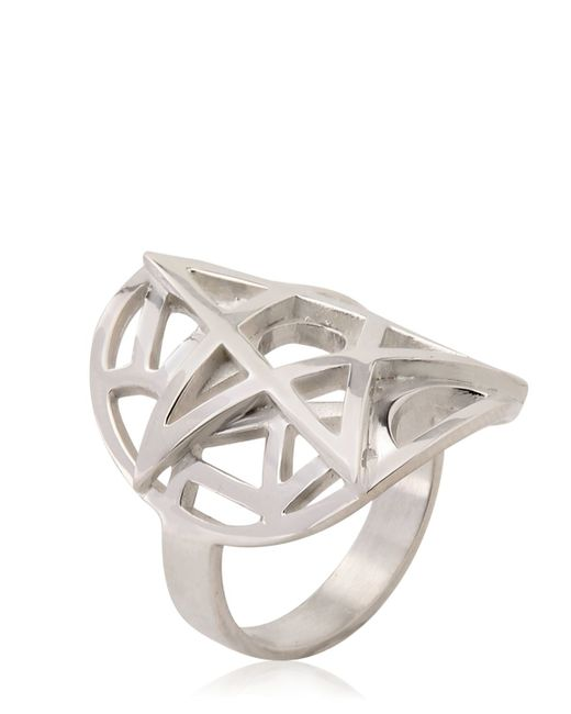 Meadowlark | Metallic Layered Cutout Ring | Lyst