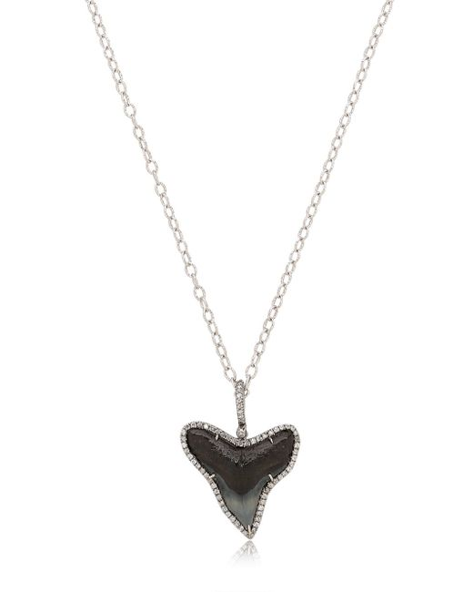 Samira 13 | Metallic Shark Tooth Necklace With Diamonds | Lyst