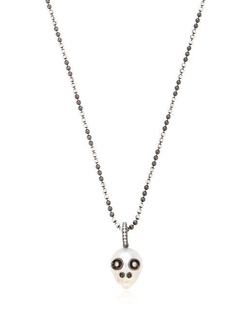 Samira 13 | Metallic Australian Pearl Skull Necklace | Lyst