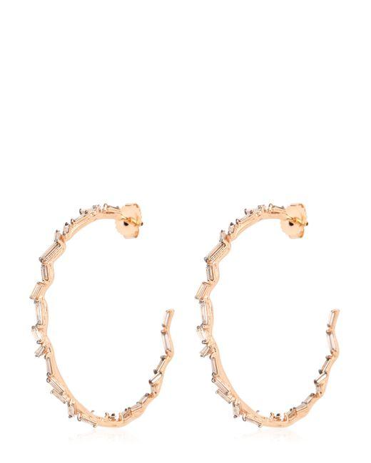 Suzanne Kalan | Pink Vitrine Hoop Earrings | Lyst