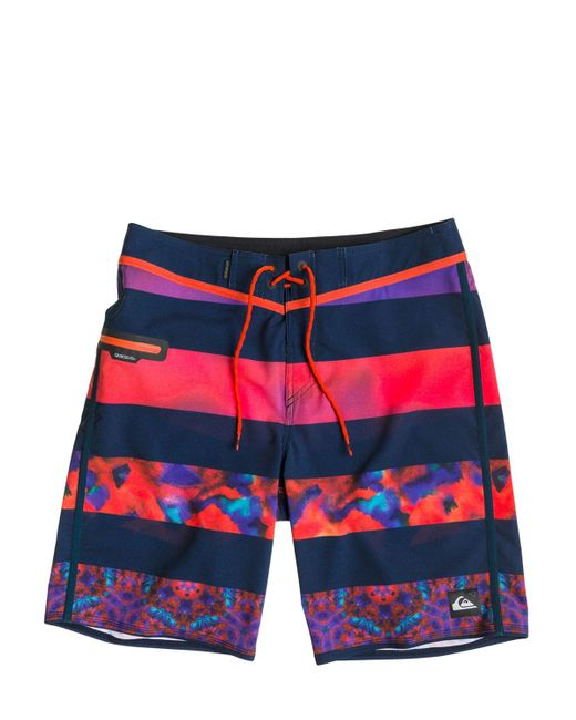 "Quiksilver | Multicolor 20"" Ag47 Brigg Boardshorts for Men 