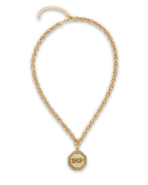 Moschino | Metallic Shop Sign Necklace | Lyst