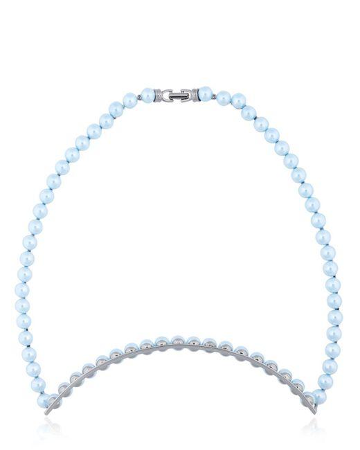 EK Thongprasert | Blue Origami Metal Imitation Pearls Necklace | Lyst