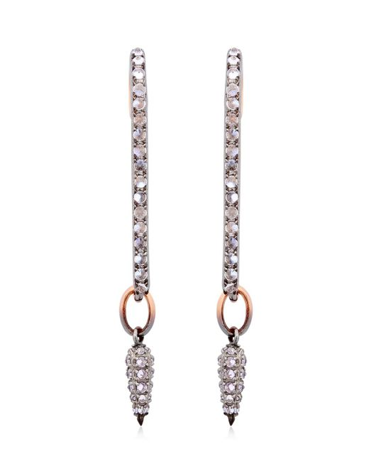 Katie Rowland | Metallic Safety Pin Drop Earrings | Lyst