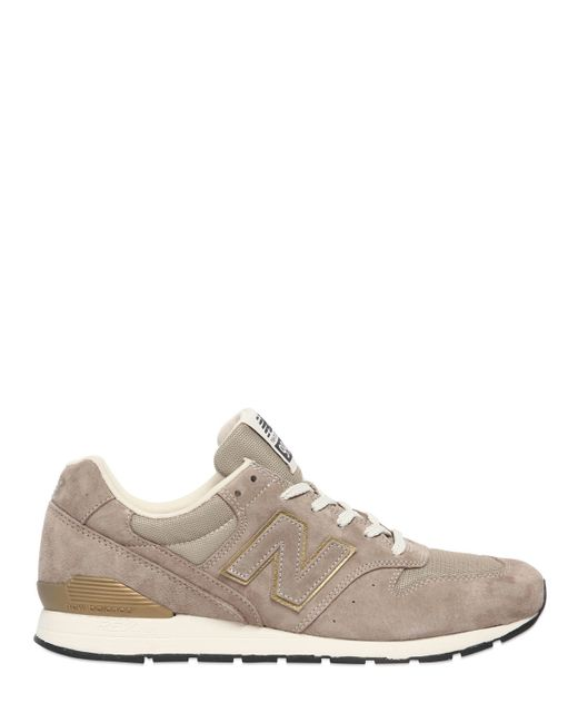 New Balance | Natural 996 Mesh & Suede Sneakers | Lyst