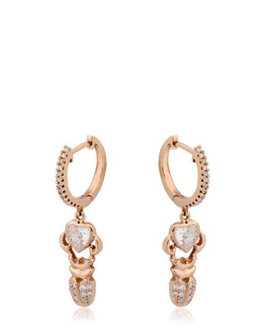 Daniela Villegas | Pink Khepri Diamond Hoop Earrings | Lyst