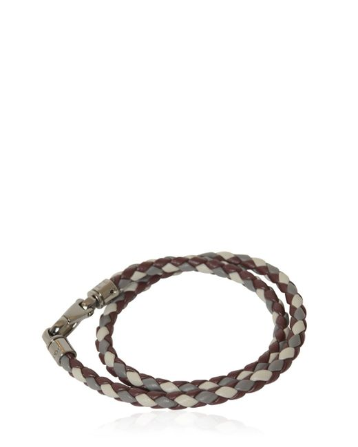 Tod's | Red My Colors Braided Leather Bracelet | Lyst