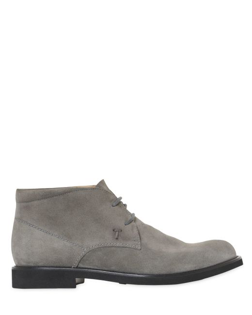 Tod's | Gray Suede Chukka Boots for Men | Lyst