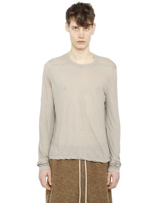 Rick Owens | Natural Double Cotton T-shirt for Men | Lyst