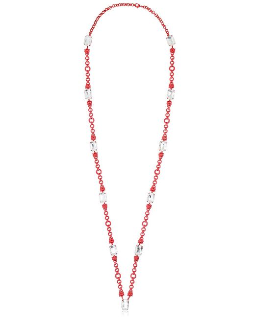Halaby | Red Sautoire Leo Necklace | Lyst
