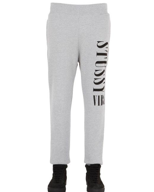 Stussy | Gray Vibe Cotton Jogging Pants | Lyst