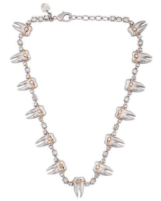 Schield | White Teeth Braces Necklace | Lyst