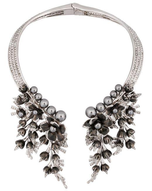 Schield | Metallic Cyborg Flowers Necklace | Lyst
