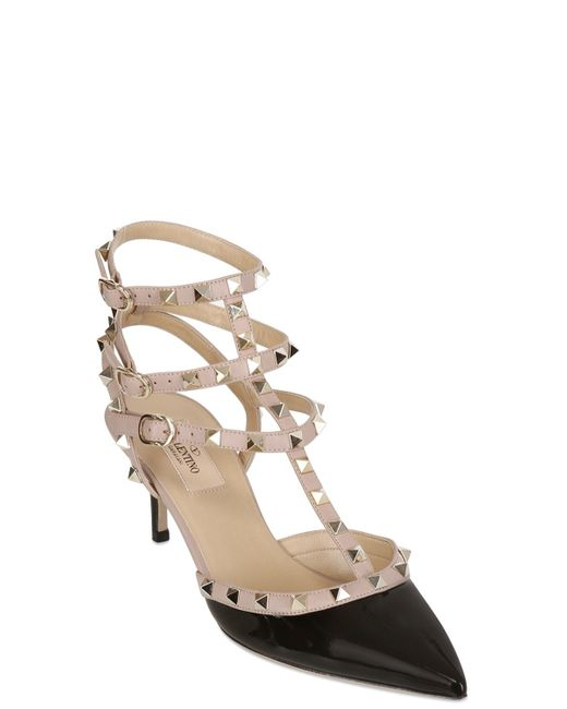 Valentino | Black 65mm Rockstud Patent Leather Pumps | Lyst