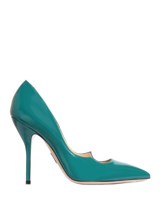 Paul Andrew | Blue 105mm Zenadia Brushed Leather Pumps | Lyst