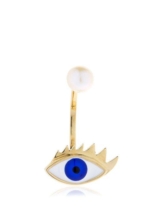 Delfina Delettrez | Blue Eye & Pearl Mono Earring | Lyst