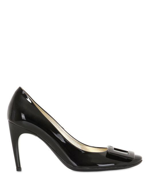 Roger Vivier | Black 85mm Belle De Nuit Patent Leather Pumps | Lyst
