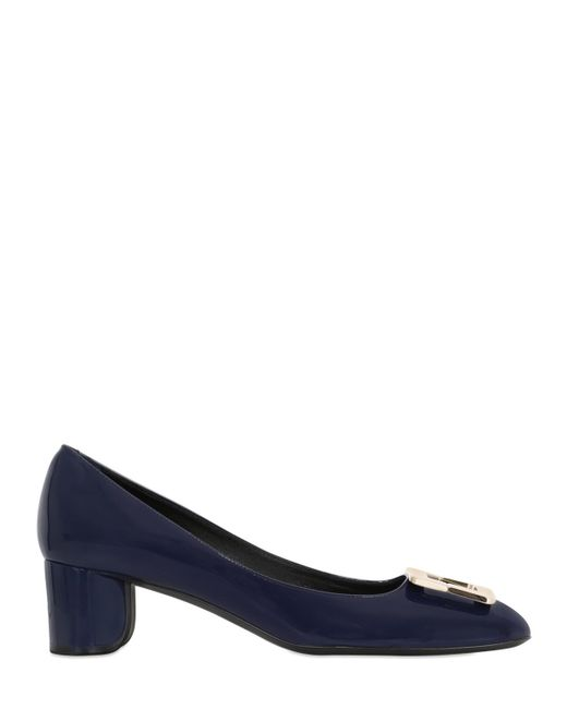 Roger Vivier | Blue 45mm U Look Patent Leather Pumps | Lyst