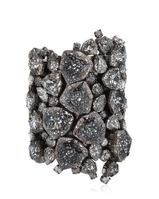 On Aura Tout Vu | Black Patina Cuff Bracelet | Lyst