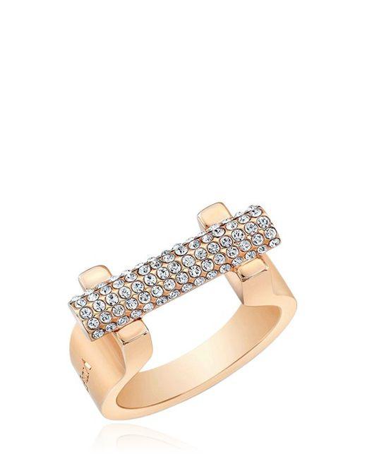 Vita Fede   Pink Sphere Bar Swarovski Crystal Ring   Lyst
