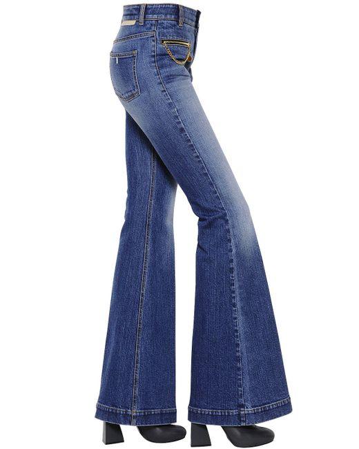 Stella McCartney | Blue Flared Organic Cotton Denim Jeans | Lyst