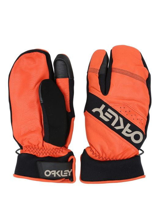 Oakley | Orange Factory Leather & Nylon Trigger Mittens | Lyst