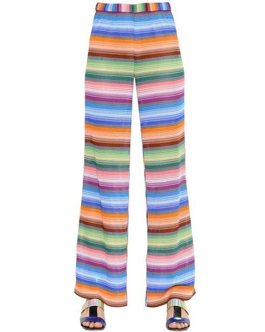 Missoni | Multicolor Striped Viscose Knit Pants | Lyst