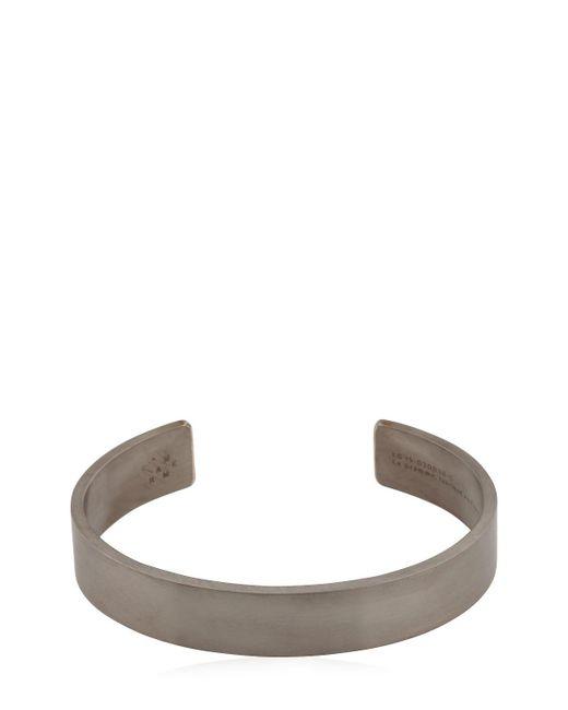 Le Gramme | Metallic Le 33 Black Brushed Silver Bracelet for Men | Lyst