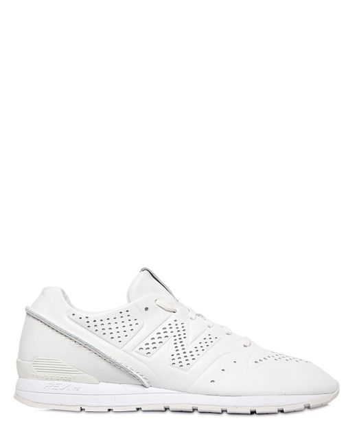 New Balance | White 996 Perforated Leather Sneakers for Men | Lyst