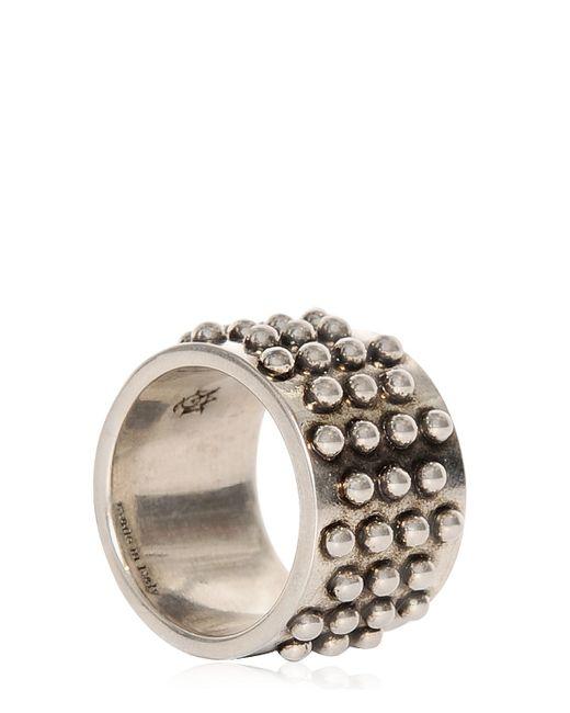 Alexander McQueen | Metallic Studded Metal Ring | Lyst