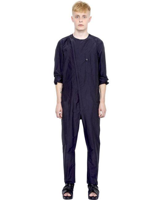 Alexandre Plokhov | Blue Cotton & Silk Jumpsuit for Men | Lyst